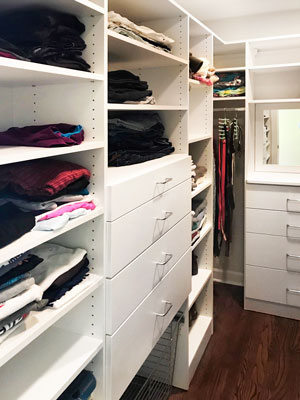 guest closet organization system with accessories