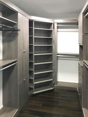 walk in closet with 360 organizer in breakwater TFL