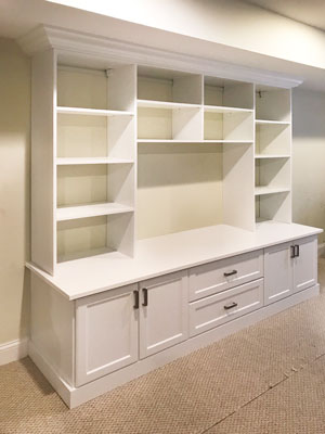 basement wall unit design