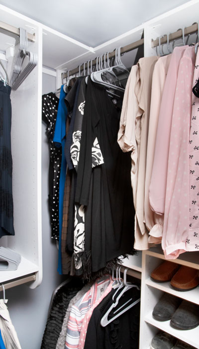 clever corner storage for closet