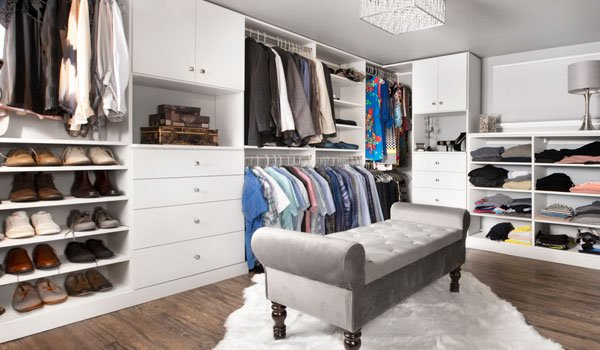 Basement transformation into master walk in closet