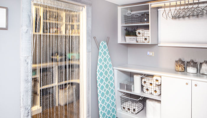 laundry room connected to pantry