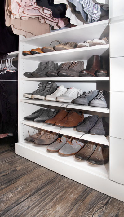 shoe shelving section for mens shoes