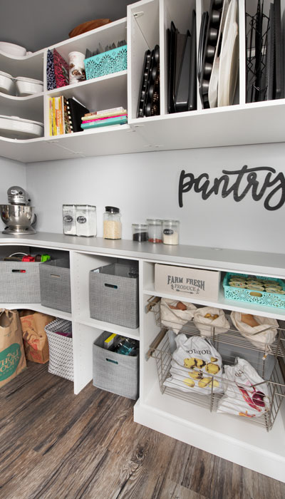 basement pantry becomes extra kitchen storage