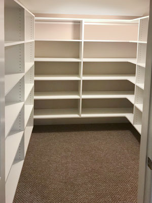 basement closet shelves storage