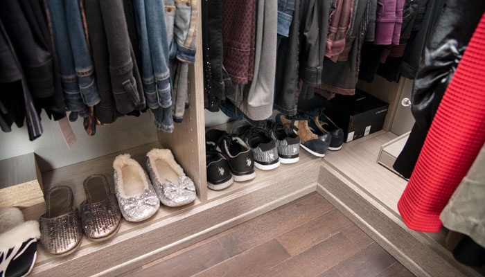 closet floor storage for shoes