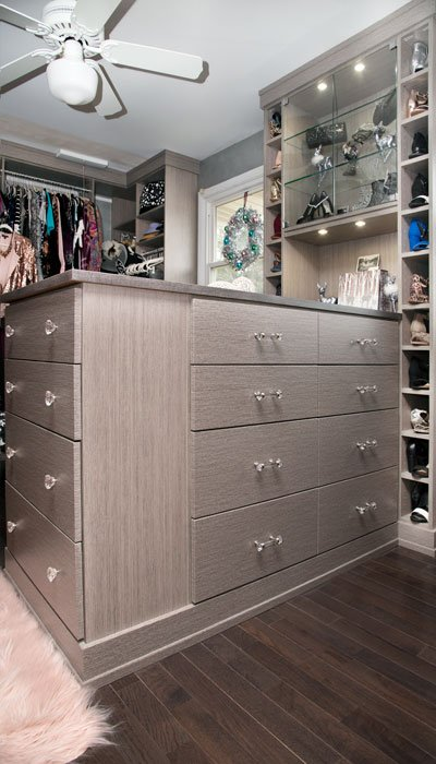 A custom closet can help you stay organized
