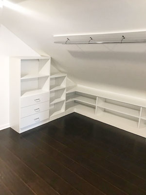 slanted ceiling closet walk in