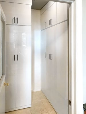high gloss pantry closet
