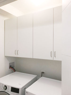 simple laundry cabinetry