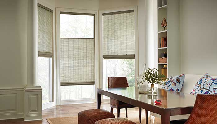 Provenance Woven Woods window treatments