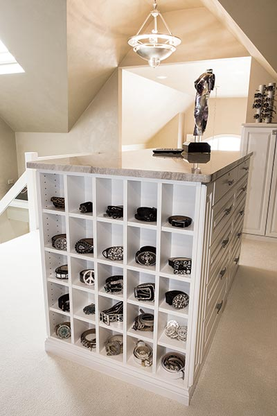 cubbies for belt organization