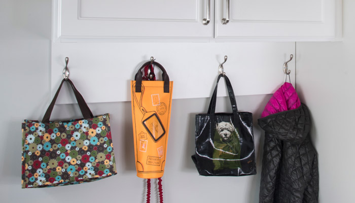 cleat with hooks for hanging purses