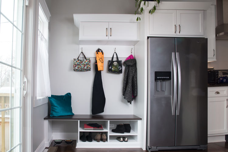 clutter organization for rear entryway