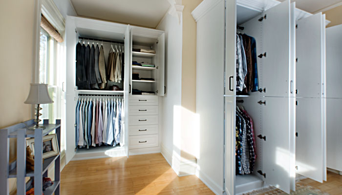 custom armoire closets all doors open