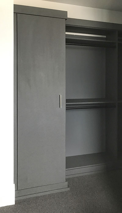 closet cabinet design in chino thermally fused laminate - TFL