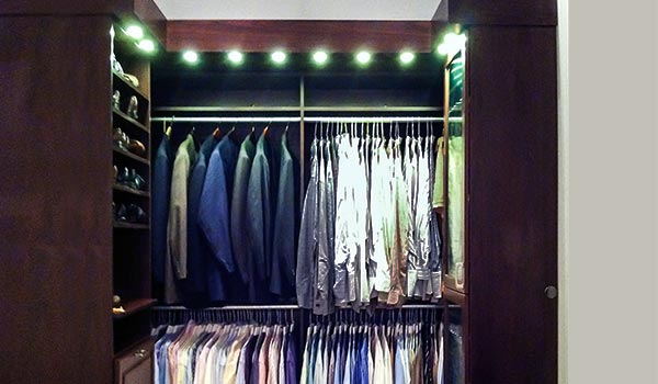 custom walk-in closet designs for men with pull-out storage