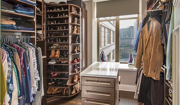 custom walk-in closet designs with 360 Organizer Shoe Spinner by Lazy Lee