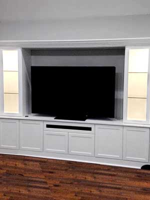 White Laminate Wall Unit with Hutch