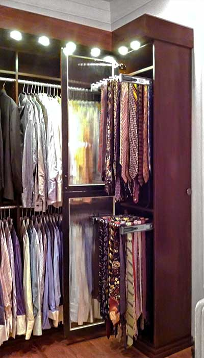 Examples Of Closets With Tie Storage