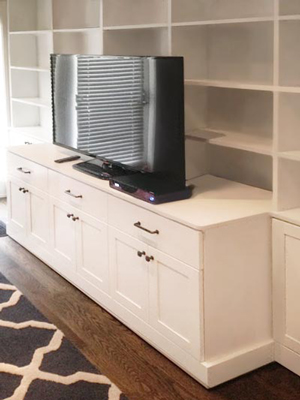White Laminate Wall Unit/Media Center