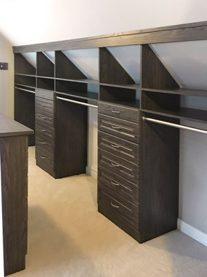 premium closet for sloped ceiling room