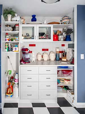 Pantry Storage and Baking Station