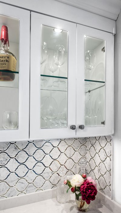 closet beverage bar glass cabinets