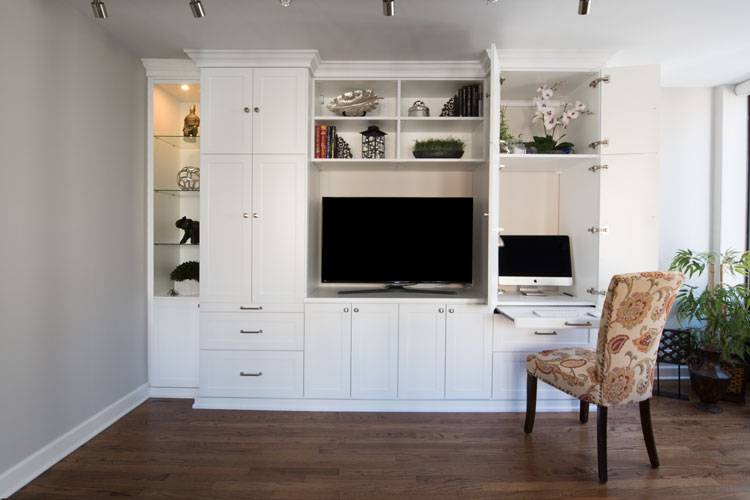 Admirable Multifunctional Media Center Wall Unit With Desk Home Interior And Landscaping Spoatsignezvosmurscom