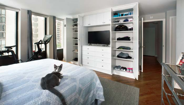 wardrobe closet is pet friendly
