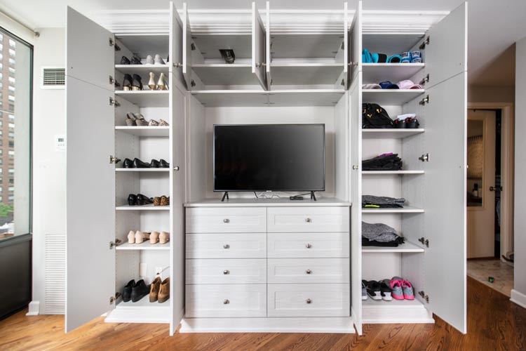 built in bedroom wardrobe storage