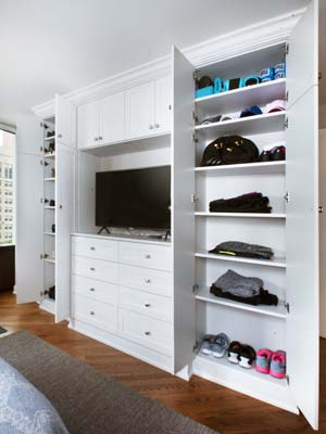 bedroom wardrobe closet for active lifestyle