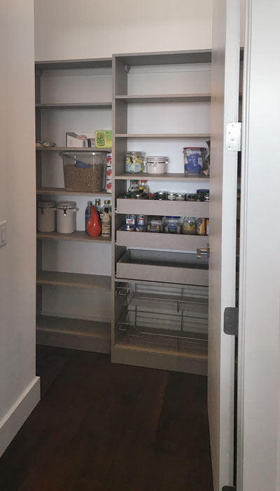 pantry organization system in frequency thermally fused laminate - TFL