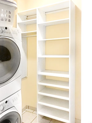laundry shelving for small laundry room
