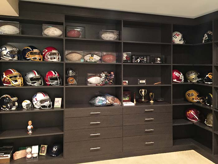 Wall Unit For Football Room Man Cave
