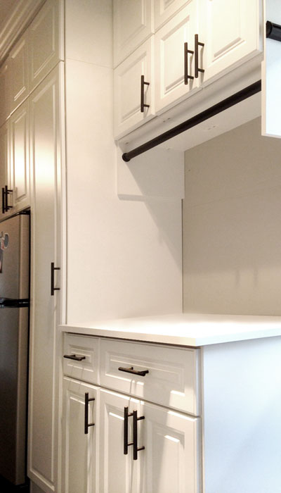 custom laundry room drawer and door fronts in harmony