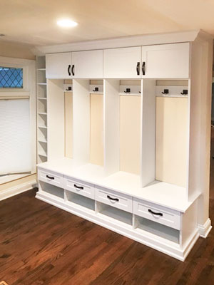 family mudroom design