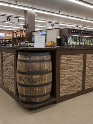 custom wine tasting center and office design for beer and fine wine store