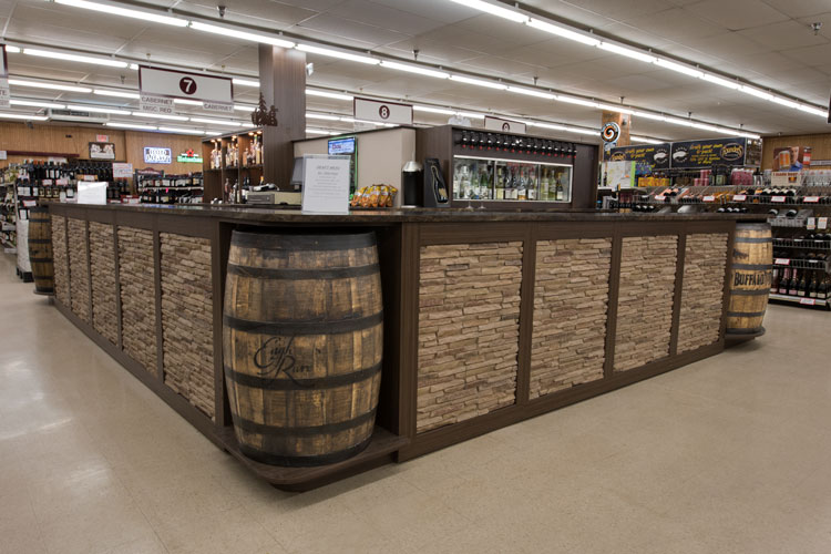 custom wine cabinet design for liquor store