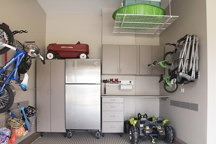 Custom garage cabinet design and garage organization