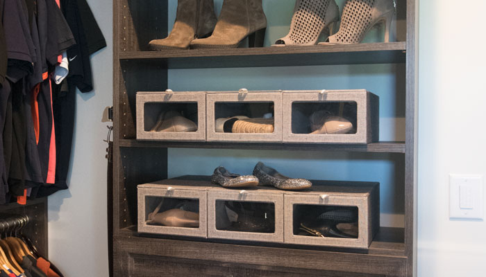 shoe storage boxes for closet