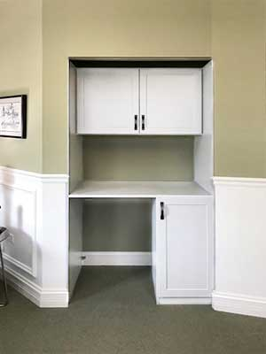 closet into desk reach in closet remodeling ideas