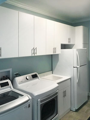 laundry room and utility cabinets