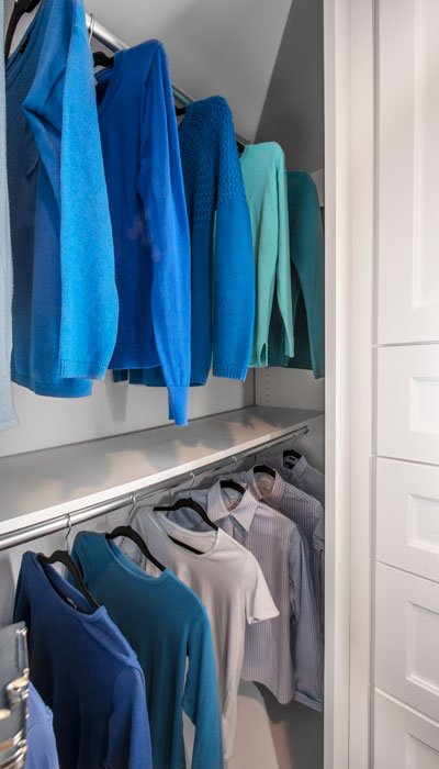 deep storage in reach-in closet for her