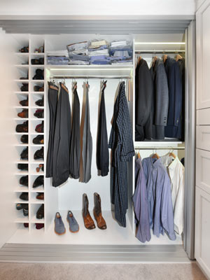 matching his and her closets for high rise - his side