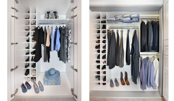 Closet Works Reach In Closets & Ideas for Bedroom Closets