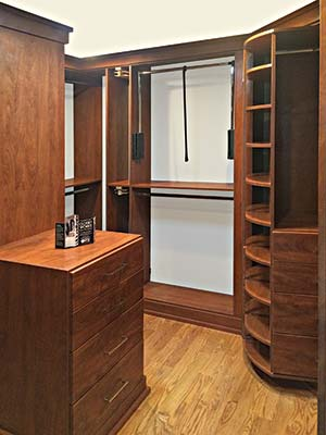 master closet with 360 Organizer Shoe Spinner