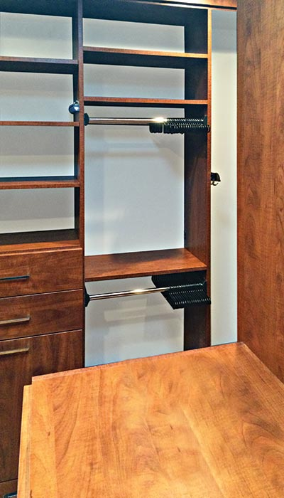 Valet Custom Closets Design With Spinning Closet Organizer Pull Outs