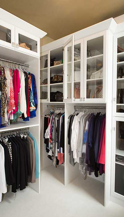 walk in closet built ins for double hang storage