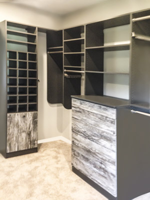 custom walk-in intrigue closet